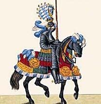 доспехи рыцаря (гравюра 18 века)