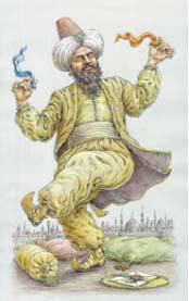Карикатурное изображение турецкого султана