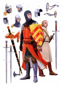 Доспехи рыцарей 14 го века